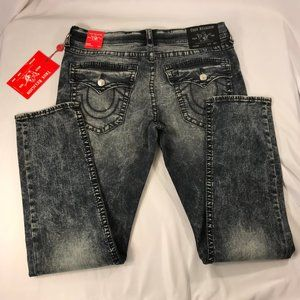 Geno Flap Big T Relaxed Slim Blue Jeans Size 34